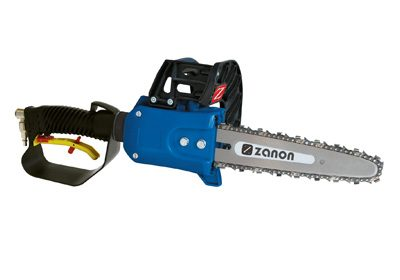 Pneumatic chain saw narrow tip