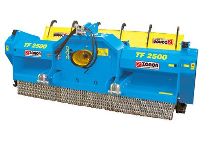 TN/DT heavy duty forest mulcher with widia roller inserts