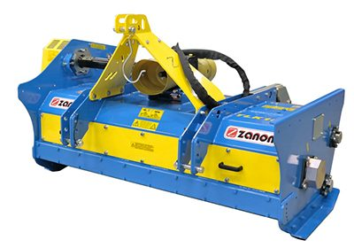 TLK Reversible blades mulcher heavy duty – with hydraulically powered pick-up roller