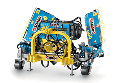 CST+DMI doppia Indipendent castle with inter-row mechanical weeder